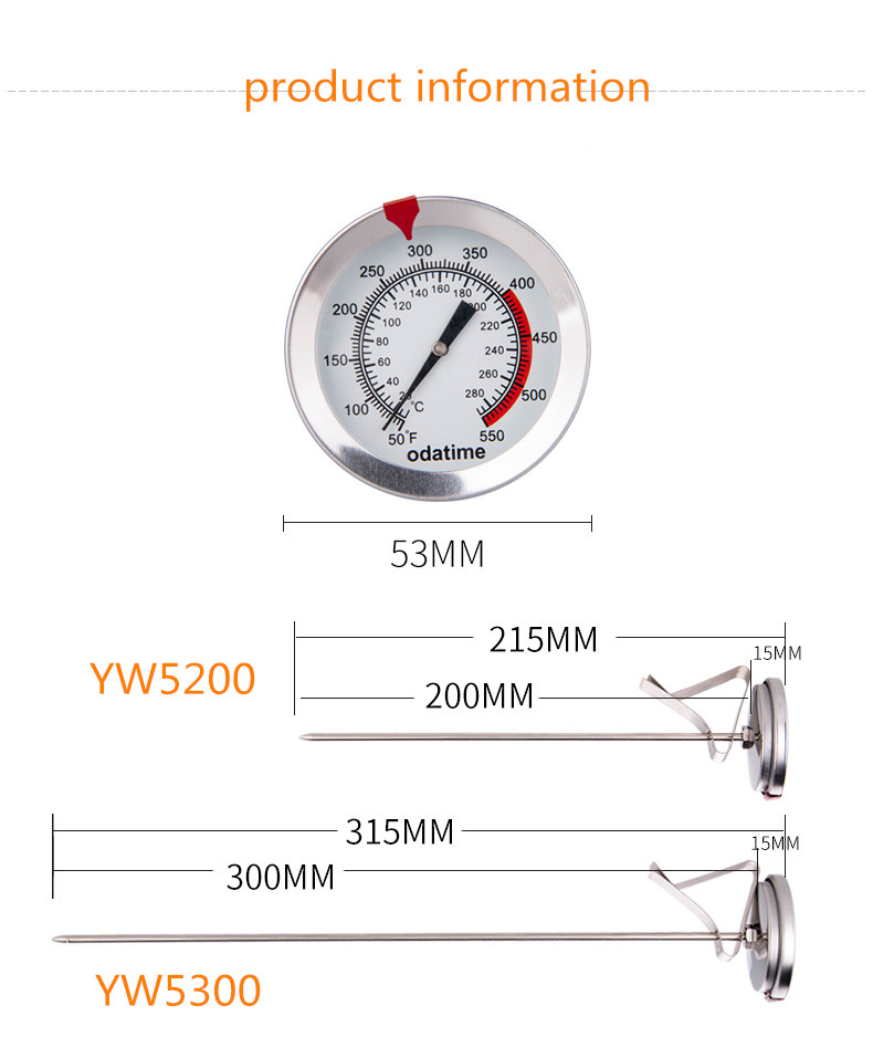 Odatime Food Thermometer made of Stainless Steel with Clamp for Accurate Temperature Measurement in Seconds 9