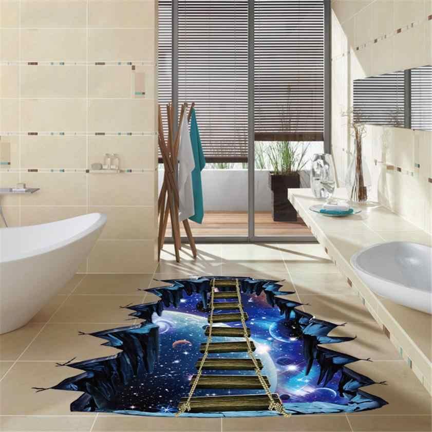 3D звезда серии пол, стены Стикеры украшения дома высокое качество ПВХ Съемный росписи наклейки Винил Книги по искусству номер Декор стен-документы