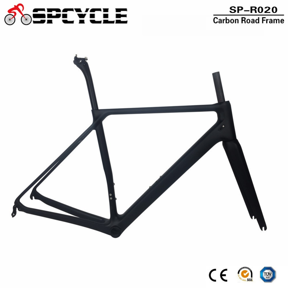 Spcycle 700C T1000 Carbon Road Bike Frame 2018 New UltraLight Racing Bicycle Carbon Frameset With Seatpost Headset BB86