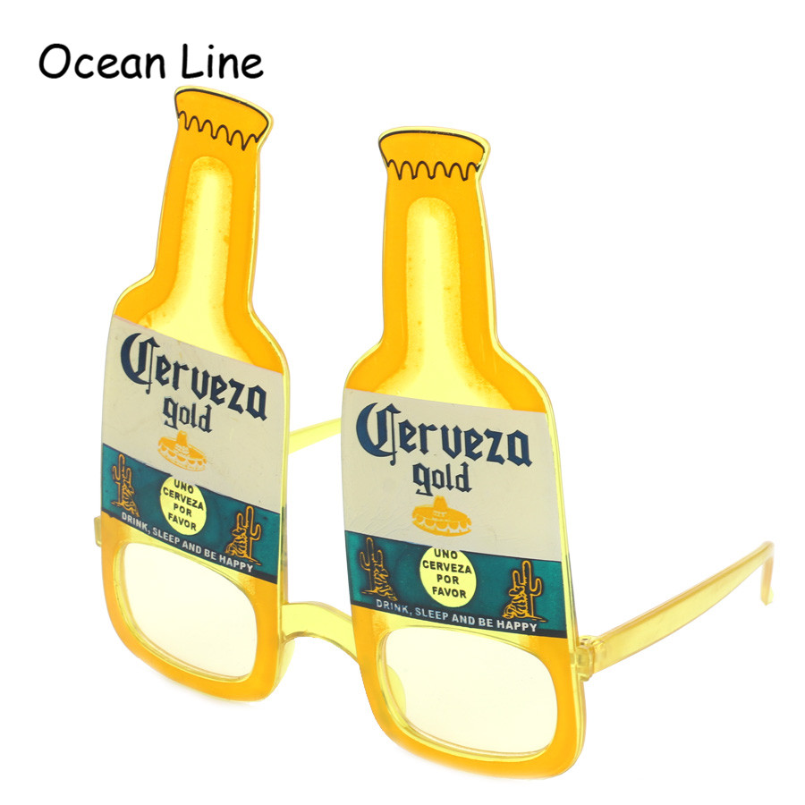 Funny Beer Bottle Wine Costume Glasses Photobooth Party Prop Holiday Beach Oktoberfest Wedding Event Festive Supplies Decoration - Ocean Line Store store