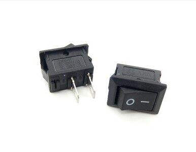 ON/OFF KCD1-101 кулисный переключатель 10*15 мм 117 S 2-контактный 250V3A 125V6A включения-выключения черный Пластик 2Pin dip 10 шт./лот