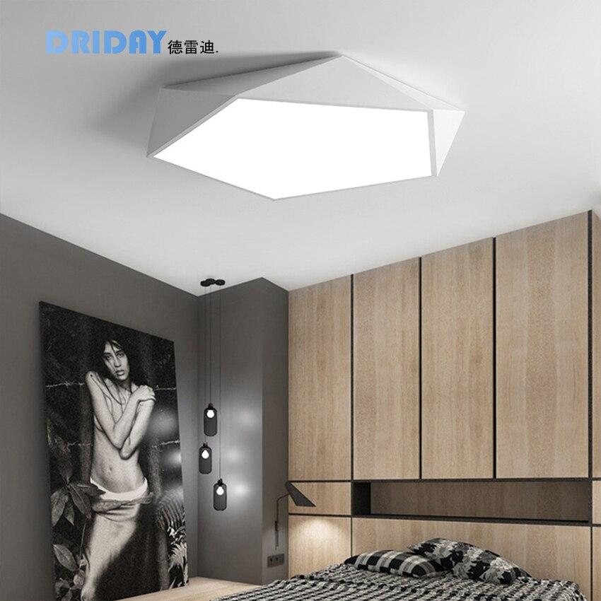 corridor balcony Ceiling Lighting light Creative geometric art led lighting ceiling lamp for Sitting room lamp study