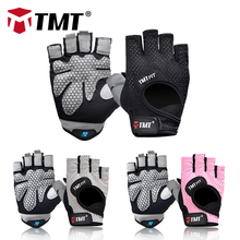 TMT Light Breathable Gym Gloves Thickened Palm Fitness Body Building Weight Lifting Training Dumbbell Exercise For Men And Women