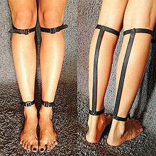 2 pcs Goth Punk Rivets Hand Foot Ankle Strap Calf Harness Leather Body Bondage Straps barefoot sandals foot jewelry