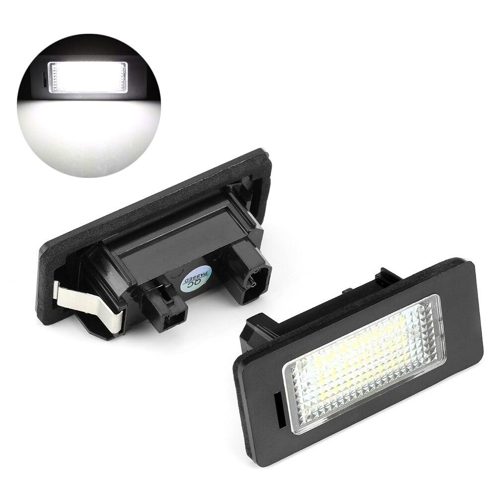 2pcs Error Free Led License Plate Lights Lamps Bulbs Canbus White 6000k 12V For BMW E39 E60 E61 E82 E90 E91 E92 E93 X5 X6