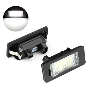 2pcs Error Free Led License Plate Lights Lamps Bulbs Canbus White 6000k 12V For BMW E39 E60 E61 E82 E90 E91 E92 E93 X5 X6