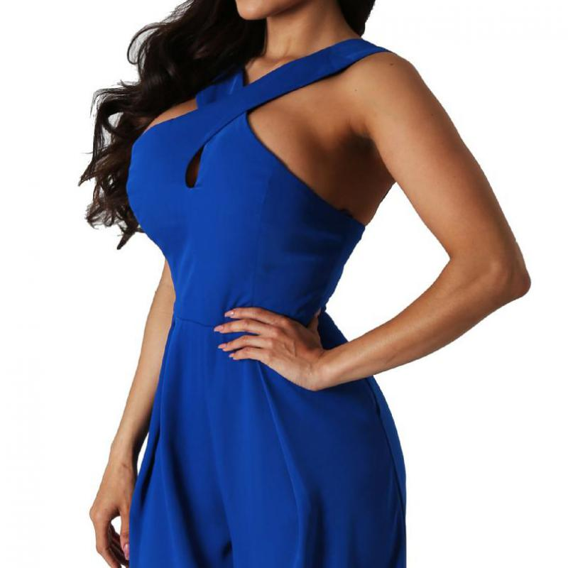 c830aa63fa6 Women Jumpers And Rompers Plus Size Sleeveless Straight Off Shoulder Slim  Waist Sexy Wide Leg Jumpsuit Full Length Hot Sale 3XL-in Jumpsuits from  Women s ...