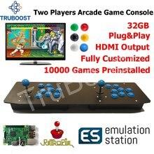 שני נגני ארקייד משחק קונסולת Plug Play מופעל על ידי פטל Pi רטרו 10000 משחקים מותקן מראש
