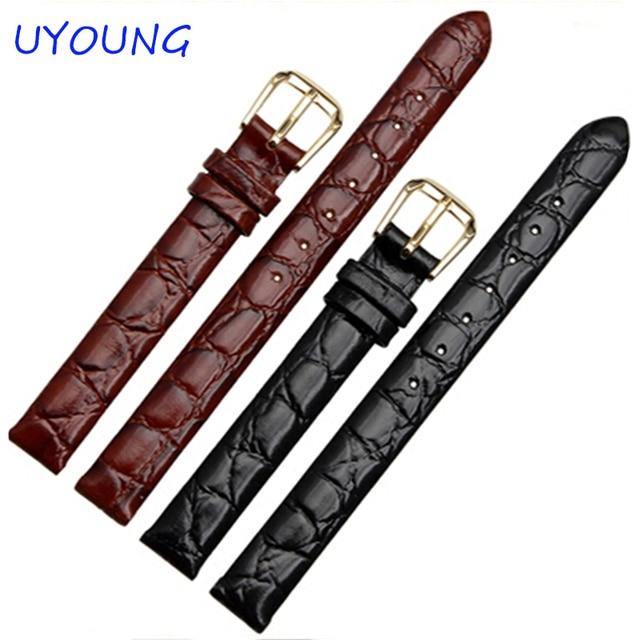 6mm 8mm 10mm 12mm 13mm Black brown Ladies Design Durable Genuine Leather Bracele