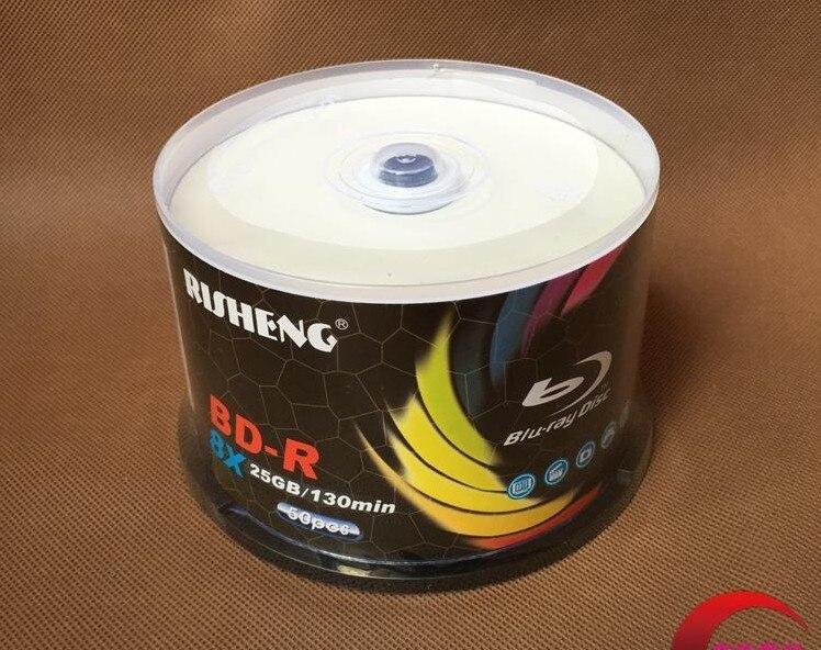 Wholesale 10 discs A+ Risheng Blank Printable 8x 25 GB Blu Ray BD-R Disc