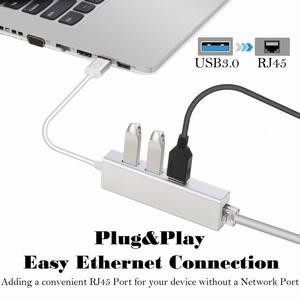 Image 5 - 3 porte USB 3.0 Gigabit Ethernet Lan RJ45 Adattatore di Rete Hub a 1000 Mbps Mac PC Gigabit USB3.0 Ethernet Adapter