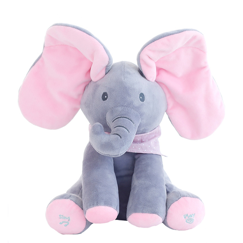 1pc-30cm-Peek-A-Boo-Elephant-Bear-Stuffed-Animals-Plush-Doll-Play-Music-Elephant-Educational-Anti (2)