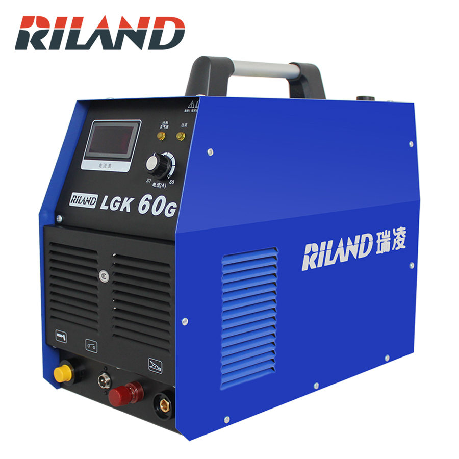 RILAND Plasma Cutter 380V LGK60G Cutting Thickness 1.0-20mm For Carbon Steel CUT Stainless Steel Aluminum Steel Cutting Machine diy carbon steel couple music score cutting dies