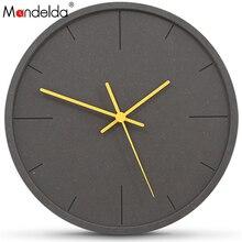 Mandelda Wall Watch Large Decorative Clocks Modern Design Horloge Mural Digital silent Decoracion Vintage Madera Para Casa