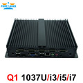 Low Power Rugged Industrial Computers Celeron 1037U i5 3317u Fanless Mini PC with 6*RS232 COM HDMI VGA