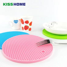 12 Color Yhicker Honeycomb High Quality Silicone Cup Mats Non-slip Heat Insulation Temperature Resostance Waterproof Table Mat
