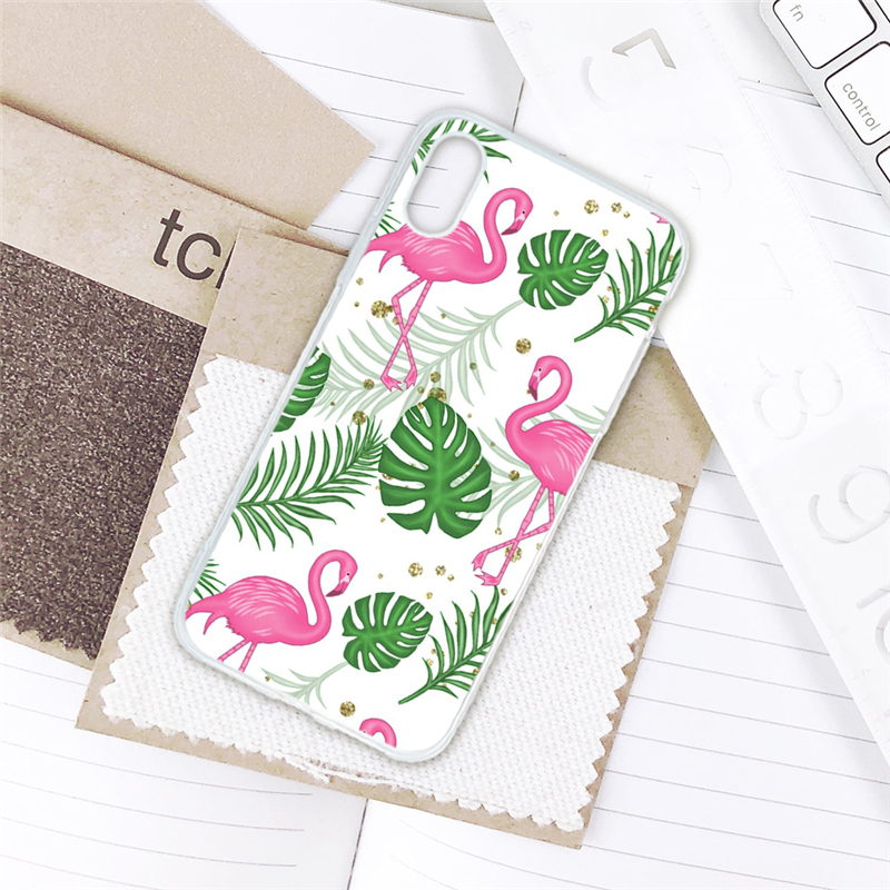 Phone Bags & Cases Open-Minded Eleteil Flamingo Case For Iphone 7 Case 6 6s 7 8 Green Banana Leaf Plant Shell Soft Tpu Back Cover For Iphone X Xr Xs Fundas E40 To Rank First Among Similar Products