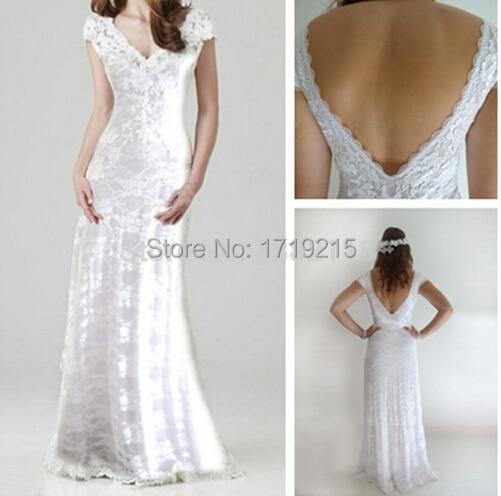 Us 145 0 Romatic Ivory Lace Bohemian Wedding Dress 2015 Winter Mermaid Backless Dress Bride Custom Off Shoulder In Wedding Dresses From Weddings