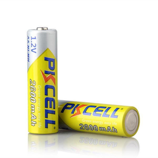 PKCELL 20PCS AA Battery 1 2V Ni MH 2A 2600mAh 1 2 Volt AA Rechargeable Battery Baterias Bateria Batteries in Rechargeable Batteries from Consumer Electronics