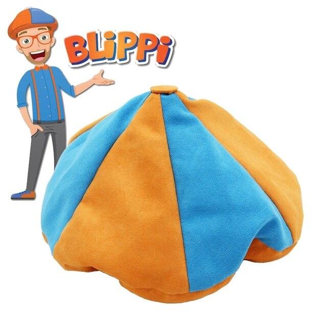 Blippi Hat Unique Teenagers Blippi Beret Cap Halloween Cosplay Prop