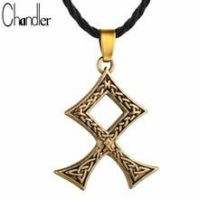 Chandler Knot Cross Pendant Necklace Amulet Nordic Viking Scandinavia Norse Pagan Talisman Jewelry Celti Knot Gift