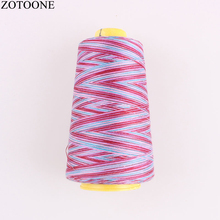 ZOTOONE Multicolor 40S/2 Polyester Sewing Thread 3000Y/Spool Industrial Embroidery Hand Machine Tool