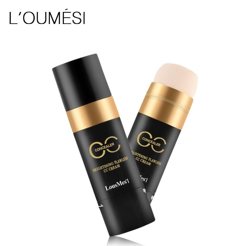 loumesi concealer cc cream Face Concealer Makeup Full Coverage Concealer Cream BB CC Cream Dark Circle Pores Brighten Concealer