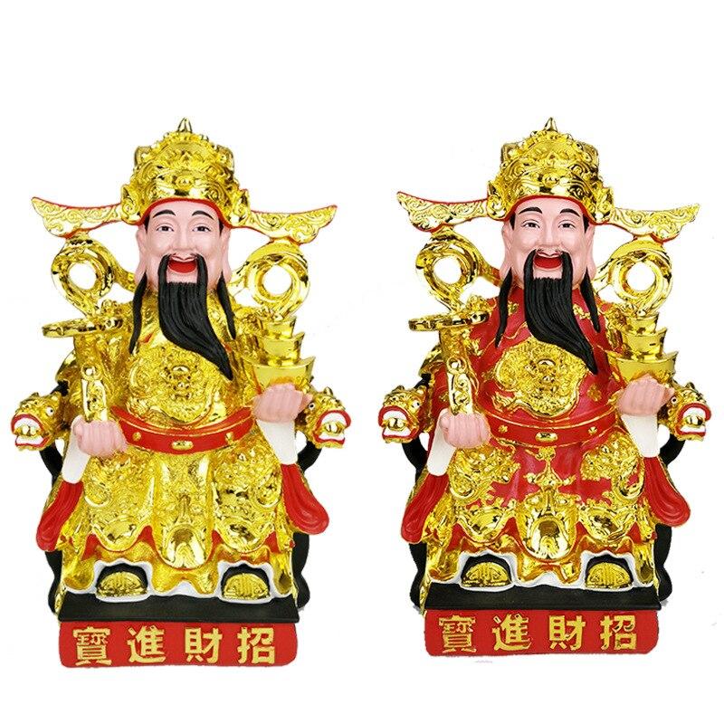 Ornements en résine pour décorations familiales de la Statue de bouddha, qui mesure 1Kg et 30 centimètres, offrant des ornements en résine