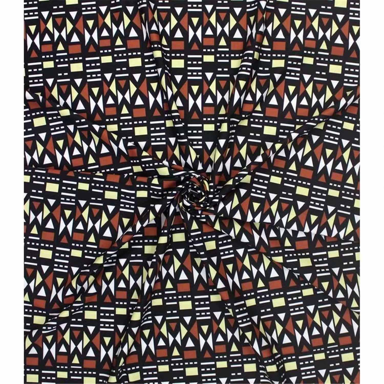 Эластичные атласная шёлковая ткань Африканская мягкая восковая печатная ткань 4 ярдов audel 2 ярд головной убор шифон имитация Анкара, ткань для батика 10