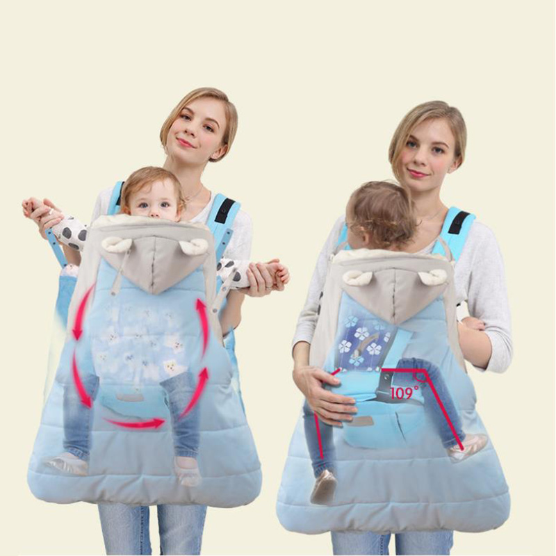 Carrier-Coat Cover Backpack Stroller Hipseat Newborn Baby Warm Cape Multi-Function Cloak