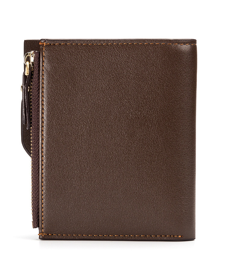 Topdudes.com - Portfolio Wallet With Coin Pocket, Zipper