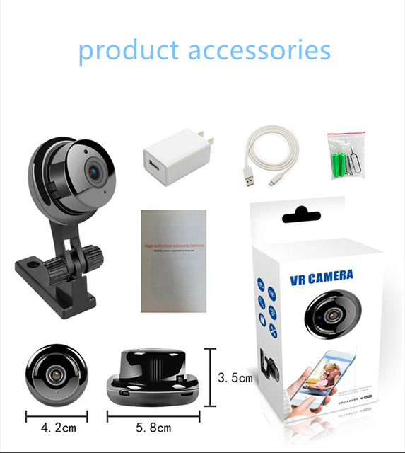 Smart Indoor/Outdoor Home CCTV Security Camera with super infrared night vision