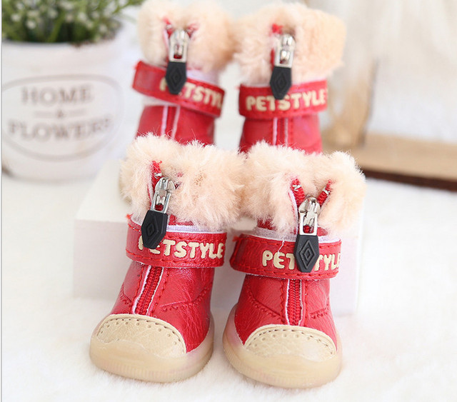 Plush Snow Boots for Dogs 2