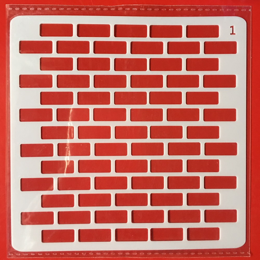 Hot 13cm Brick Wall DIY Layering Stencils Wall Painting Scrapbook Coloring Embossing Album Decorative Card Template