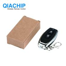 QIACHIP 433 MHZ RF Remote Control Learning Code 1527 EV1527 For Gate Garage Door   Controller 433mhz Receiver Included Battery D free shipping 2pcs remote learning code automatic door controller with remote controller 12 36vdc ac