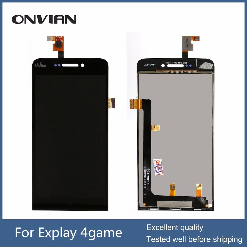 4 Game Display Panel For Explay 4Game LCD Display Screen Replacement Parts with Touch Sensor assembly ; With Tracking Number