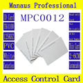 C12-2 High Quality 200Pcs White RFID 125khz Chip Contactless Timecards Tag Proximity Access Control Card Smart ID Token
