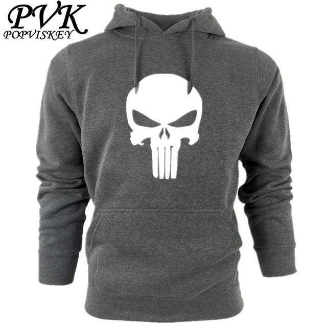 Marca de moda sudadera con capucha de los hombres Con Capucha Anime cráneo Punisher hoodies nueva casual masculina Sudadera homme hip hop ropa deportiva