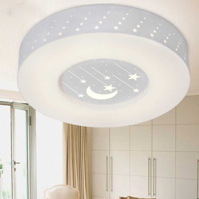 Modern led bedroom ceiling lamp moon stars acrylic panel living modern led bedroom ceiling lamp moon stars acrylic panel living room ceiling lights study room creative mozeypictures Gallery