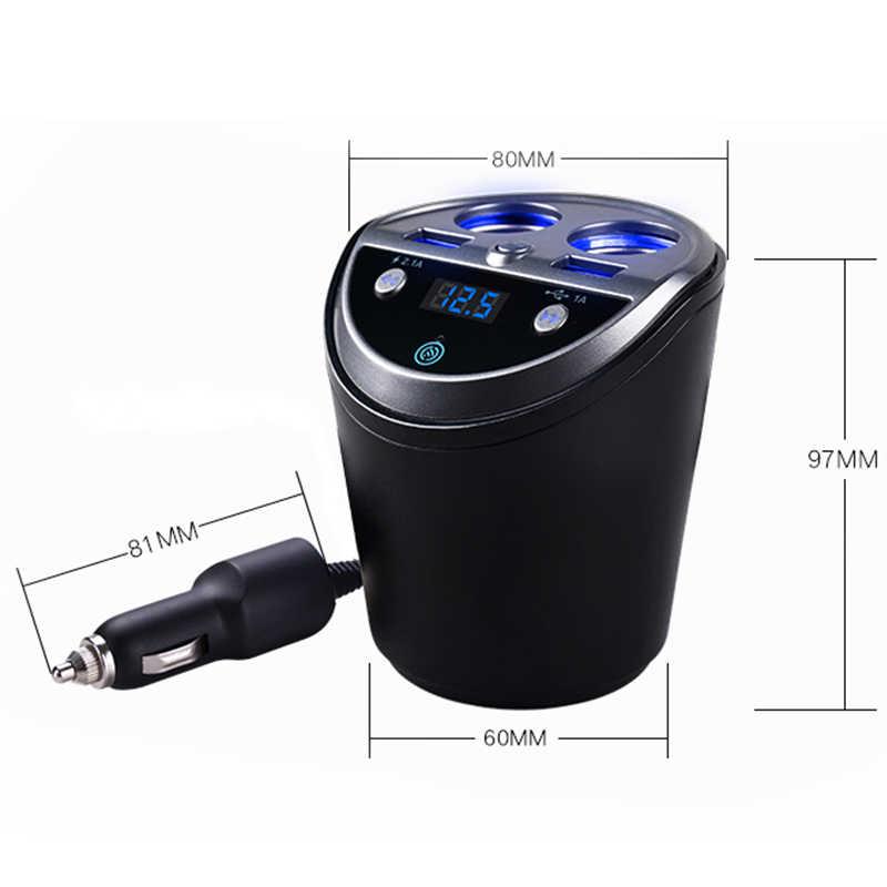 Bluetooth ワイヤレス車の Fm トランスミッタ Mp3 プレーヤーカップホルダーハンズフリーカーキット Fm ラジオデュアル Usb 車のシガーライターポート