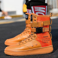 New Fashion Men Sneakers High Top Casual sneaker Flats Shoes Basket Male Hip hop mid calf Boots Shoes Boys Walking shoes PP 37