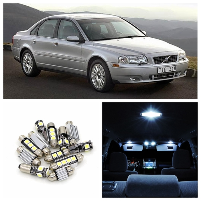 Us 19 13 34 Off 19pcs White Canbus Led Light Car Bulbs Interior Package Kit For 1999 2006 Volvo S80 Sedan Map Dome Trunk Door Lamp No Error In