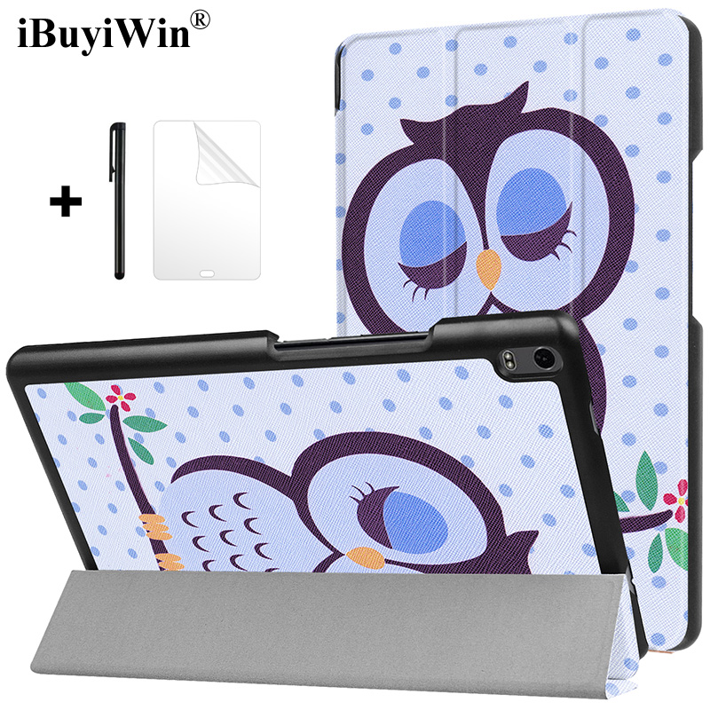 Flip Case for Lenovo Tab 4 8 Plus TB-8704X TB-8704F TB-8704N Slim Stand Cover PU Leather Case for Lenovo Tab4 8 Plus Tablet Case genuine leather case for lenovo tab 4 8 plus cover cowhide tab48plus protective protector tb 8704f tb 8704n l tablet cases 8 0