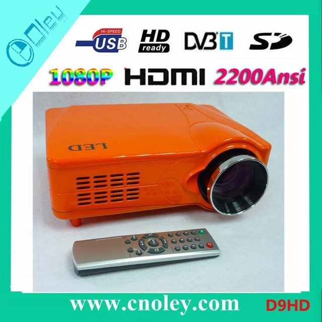 Hot! DVB-T/USB Video Game Projector 1080P High Brightness Projector