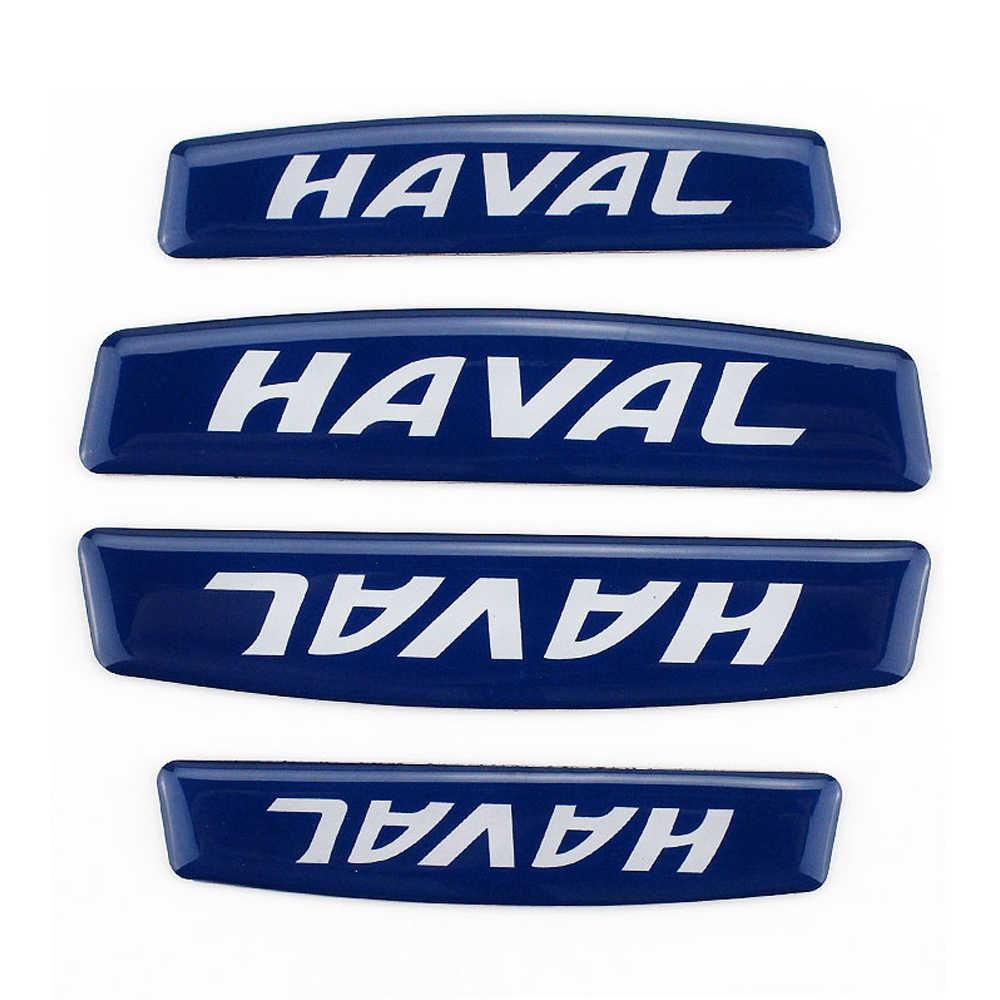 La puerta del coche borde de la placa de Embelm logotipo Sitkcer calcomanías Protector desgaste parachoques para HAVAL Korna Tabanca H3 H6 M4 M2 h2 H5 H7 H8 H9