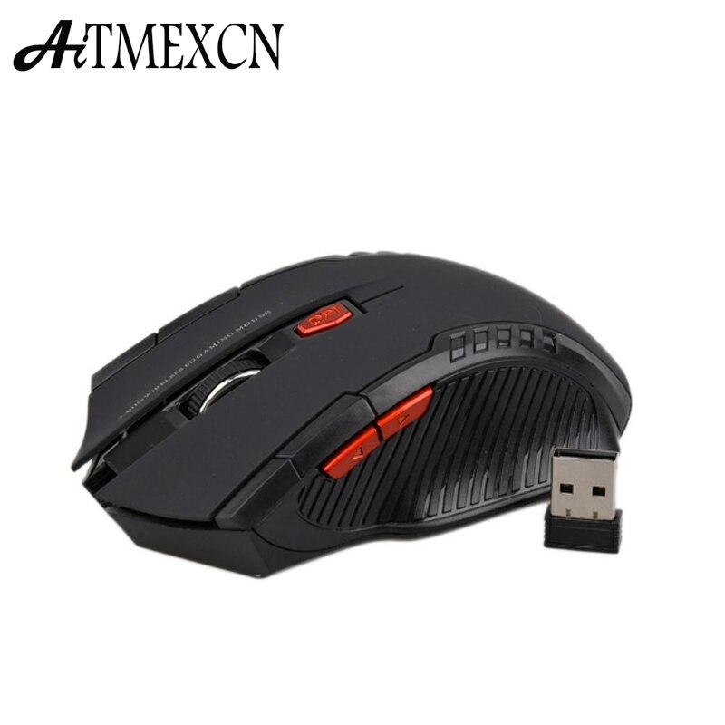 Aitmexcn Óptico 2.4 Ghz Ratón Inalámbrico de Juegos de Ordenador Ratón inalámbri