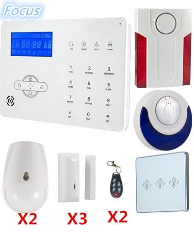 купить 2018 Popular Alarm WebIE PC Control Wireless Smart GSM Alarm System PSTN Alarm System Home burglar Alarm System онлайн
