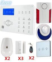 2018 Popular Alarm WebIE PC Control Wireless Smart GSM Alarm System PSTN Alarm System Home burglar Alarm System