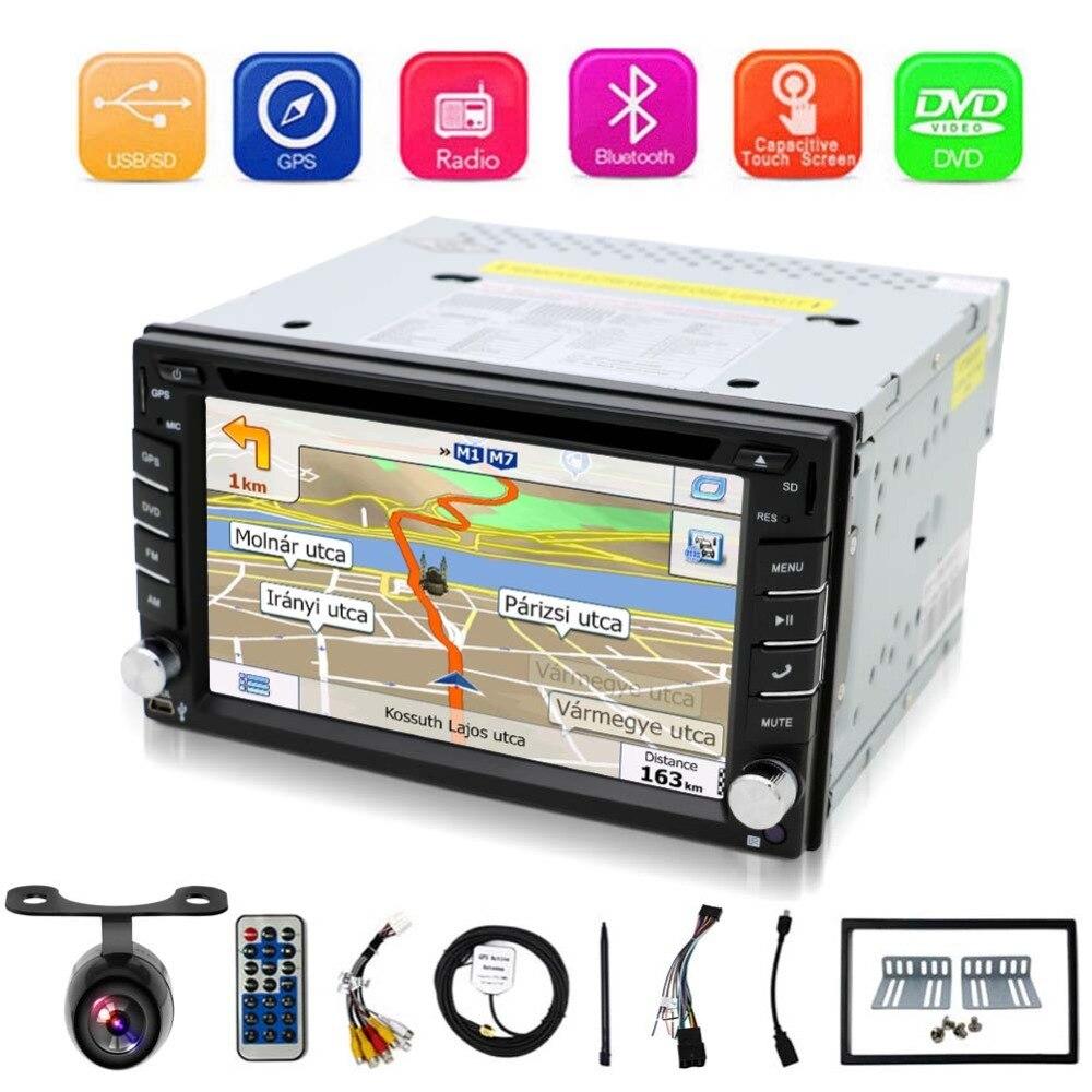 Autoradio universel Bosion Double 2 Din lecteur DVD de voiture Navigation GPS dans le tableau de bord Autoradio lecteur multimédia unité de tête stéréo + carte