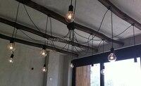 Grote Lamp Plafondlamp Ijzer E27 + 220 v Grote Licht Edison restaurant eetkamer foyer verlichting-in Plafondverlichting van Licht & verlichting op